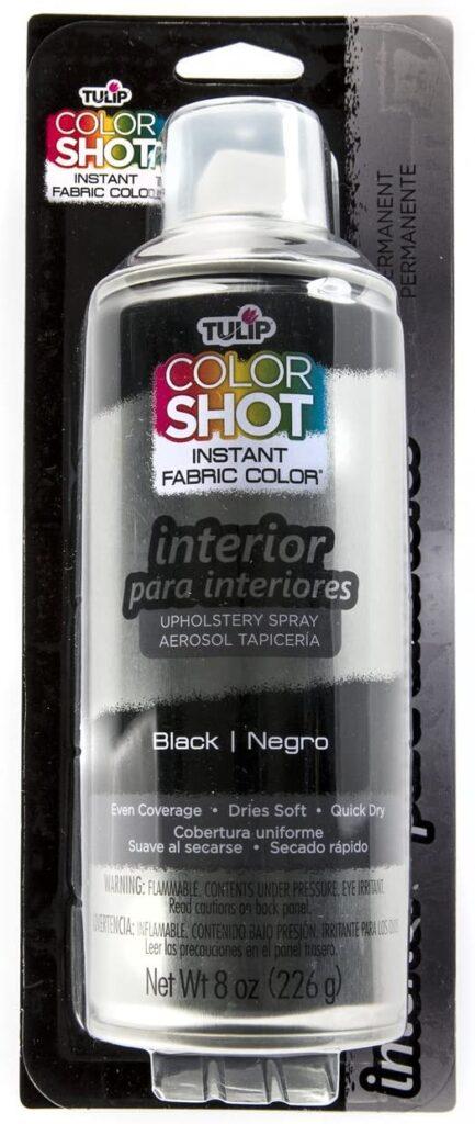 Tulip fabric black spray paint
